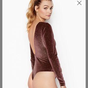 Victoria's Secret glitter bodysuit Sz M NWT